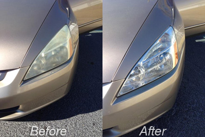 Before/After Headlight Clean